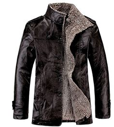 Cheap leather jacket men, Buy Quality leather coats men directly from China leather jacket Suppliers: Leather Jacket Men Winter Thick Inner Wool PU Leather Coat Men Casual Thermal Stand CollarFaux Leather Coat Warm Jacket Winter Leather Jackets, Winter Jackets, Wool Jackets, Bomber Jackets, Fur Bomber, Casual Jackets, Cheap Jackets, Military Jackets, Motorcycle Jackets