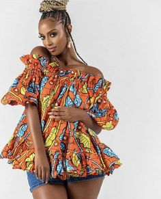 Items similar to African dresses ankara dresses mini dresses prom dresses summer dresses palazzo crop tops african women on Etsy Short African Dresses, African Blouses, Latest African Fashion Dresses, African Print Dresses, African Print Fashion, Africa Fashion, African Prints, African Tops, Ankara Fashion