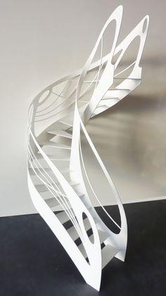escalier design contemporain débillardé