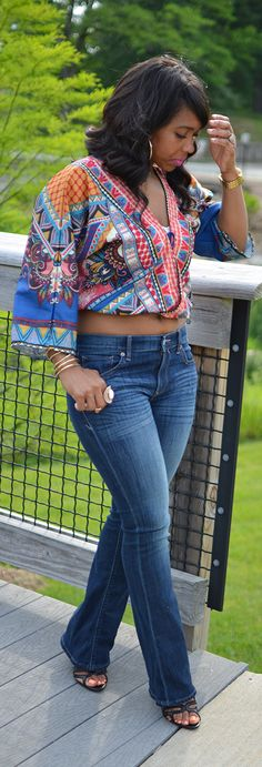 Flare Jeans, Spring Outfit Idea, Summer Outfit, Crop Top