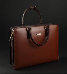 Mens High-end Leather Shoulder Red Brown Bag | www.pilaeo.com