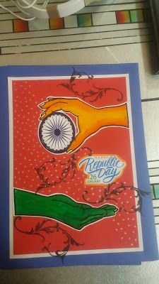 Art ,Craft ideas and bulletin boards for elementary schools: Republic Day file design/decoration idea<br> File Decoration Ideas, School Board Decoration, Class Decoration, Independence Day Drawing, Independence Day India, Drawing For Kids, Art For Kids, Crafts For Kids, Diy Craft Projects