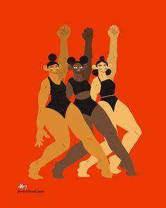 Hayley Thornton-Kennedy illustration activism strong female figures