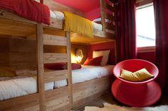 Dortoir bois mélèze - Appartement Morzine - Chalets Bayrou