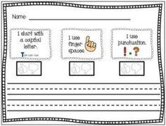 11 Fantastic Writing Rubrics for Kindergarten - dictated sentence - Teach Junkie