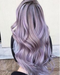 P I N T E R E S T @patriciaperusko Pastel Lilac Hair, Greyish Purple Hair, Teal Hair Color, Long Purple Hair, Bright Coloured Hair, Lilac Grey Hair, Short Lavender Hair, Pink Purple Blue Hair, Pastel Lavender Hair