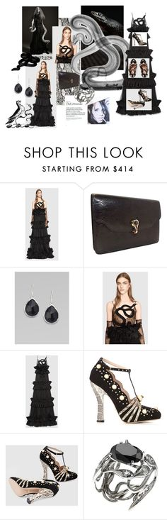"""""""Slither on Down with Gucci"""" by lavalu-1 on Polyvore featuring Gucci, Ippolita, Zimmermann, THE COBRA SNAKE and guccicontestFashionFever"""