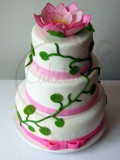 Lotus Flower Cake - Caketutes Cake Designer: Bolo Flor de Lotus