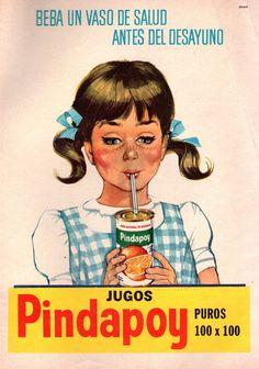 Jugos PINDAPOY. Publicidad argentina de 1964.