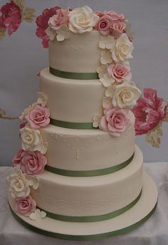 Rose Cascade Wedding Cake | Flickr - Photo Sharing!