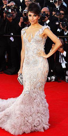 Eva Longoria- Cannes. Marchesa. Over the top, but beautiful.