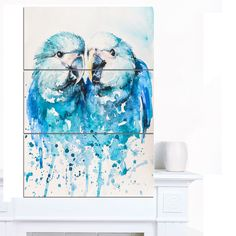 Designart 'Spix's Macaw Watercolor' Animal Wall Art Print