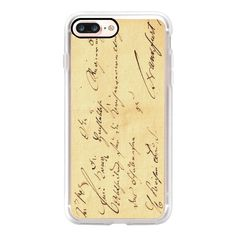 Lovely Handwritten Postage Old Vintage Paper Seal - iPhone 7 Case,... ($40) ❤ liked on Polyvore featuring accessories, tech accessories, iphone case, slim iphone case, iphone cases, vintage iphone case, apple iphone case and iphone cover case