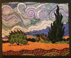 ...love the sky detail! Van Gogh adaptation, by Jeri Laskowski - RHM JJA 2015