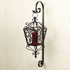 Ranielle Scroll Lantern Antique Mahogany