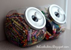 Storage for kids craft items can be beautiful!