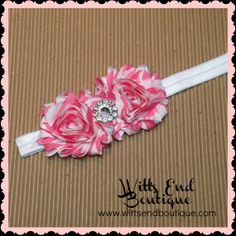 Coral Shabby Headband by WittsEndBoutique on Etsy, $7.00