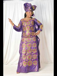Lady's Afican maxi dress grand boubou by NewAfricanDesigns on Etsy African Maxi Dresses, African Dresses For Women, African Attire, African Women, African Outfits, African Clothes, African Design, African Style, African Traditional Dresses