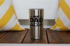 Best Dad in the Galaxy Stainless by TheLuckyButterfly on Etsy
