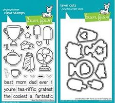 Lawn Fawn Best Pun Ever Clear Stamp and Die Set