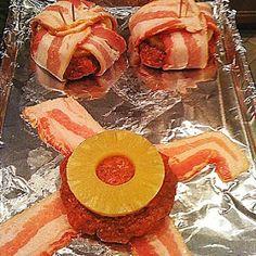 Pineapple BBQ Bacon Burgers