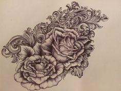 victorian rose tattoo - Google Search