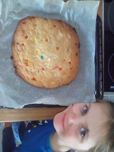Giant Confetti White Chocolate Chip Cookie.