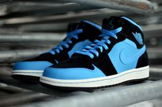 Air Jordan 1 Mid Blue Suede