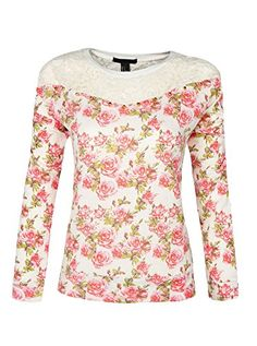 Womens Loose Soft Long sleeve Lace Printed Nightshirt Medium ** Read more  at the image link. (This is an affiliate link and I receive a commission for the sales)