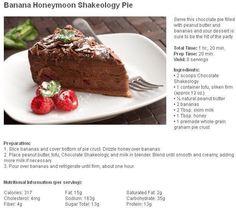Banana Honeymoon Shakeology Pie