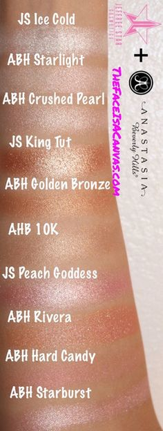 Jeffree Star Skin Frost Highlighters Compared to Anastasia Beverly Hills + REVIEW