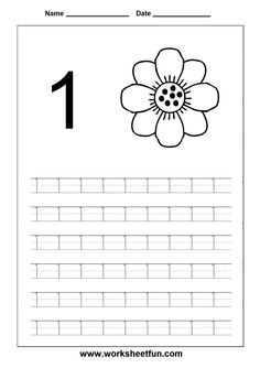 Printables Number Tracing Worksheets 1-20 trace numbers 1 20 in these six number tracing worksheets kids for kindergarten and preschool tem outras atividades