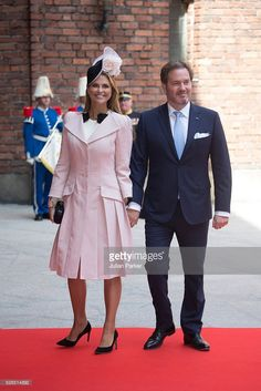 Princess Madeleine of Sweden, and husband Christopher O'Neill attend a Lunch at City Hall Stockholm, on the occasion of King Carl Gustaf of Sweden's 70th Birthday, on April 30, 2016, in Stockholm, Sweden.