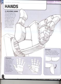 how to draw - Roboterhand Hand Reference, Anatomy Reference, Drawing Reference, Cyberpunk, Robot Concept Art, Robot Art, Transformers Drawing, Robots Drawing, How To Draw Robots