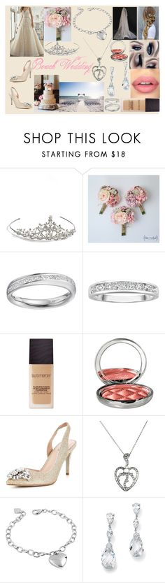 """Beach Wedding!! <3"" by hayley11123 ❤ liked on Polyvore featuring Nina, Mon Cheri, Laura Mercier, By Terry, Carvela, West Coast Jewelry and Palm Beach Jewelry"