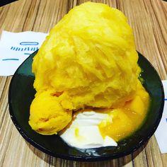 アイスモンスターでマンゴーかき氷を食べた。待ち時間0でした。