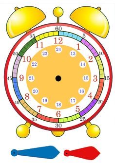 Klocka Tid Math For Kids, Fun Math, Preschool Activities, Time Activities, Teaching Time, Teaching Math, Math Classroom, Kindergarten Math, Math Clock