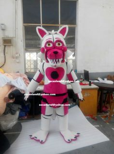 Halloween FNAF Funtime Foxy Mangle Costumes,FNAF Funtime Foxy Mangle Mascots,Funtime Foxy Mangle Cosplay,Funtime Foxy Mangle Kids,Mangle Toy This FNAF Funtime Foxy Mangle is the same as the pictures shown,100% real pictures, final costumes for adults, we could also make some changes if you want,thank you. Color: as seen in the pictures Material: PP Cotton,EVA Material,Plush Sizes of the FNAF Funtime Foxy Mangle Mascot Costumes: S (160 cm-170 cm)- 53 to 57, M (171 cm-180 cm)- 57 to 511...