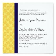 """Bright Summer Wedding Invitation 5.25"""" Square Invitation Card"""