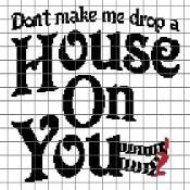 This would make a fabulous cross stitch :-D Drop a House on you Crochet Chart - via @Craftsy.