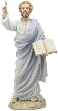 "Amazon.com: Custom & Unique {8.5"" Inch} 1 Single, Home & Garden ""Standing"" Figurine Decoration Made of Resin w/ Religious Heavenly Saint Peter Catholic Jesus Apostle Spiritual Style {Assorted Color}: Home & Kitchen"
