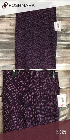 NWT LuLaRoe Purple Patterned Cassie Pencil Skirt NWT LuLaRoe Purple Patterned Cassie Pencil Skirt. Soft and stretchy fabric LuLaRoe Skirts Pencil