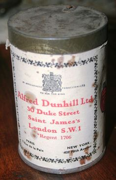 DUNHILL MY MIXTURE EMPTY TOBACCO TIN