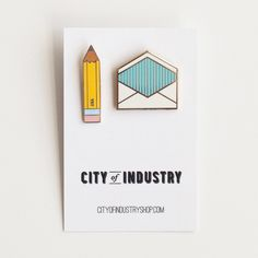 Enamel Pin Correspondence Set / City of Industry Enamel Pins Jacket Pins, Pins And Needles, Cool Pins, Thing 1, Pin And Patches, Stickers, Up Girl, Pin Badges, Lapel Pins