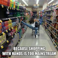 Because Shopping with Hands is too mainstream