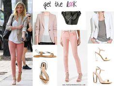 # Getthelook pastel pink pants and metallic sandals