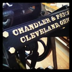 Fabulous Feature: Antique Chandler and Price Printing Press from reader Denise | CabinPressStudio.com