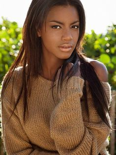"""Me muse, Eboni Davis:  """"There's a French painter named Matisee,"""" and in France they call beautiful women """"matissee,"""" and that's what Eboni is.  """"Eboni is a bit vain. Don't get me wrong, I love a mirror; I'm an only child but she's just constantly looking at her beauty"""" (Annalise)"""