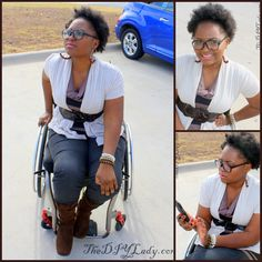 Wheelchair style. Love the glasses.  See it. Believe it. Watch thousands of SCI videos at SPINALpedia.com