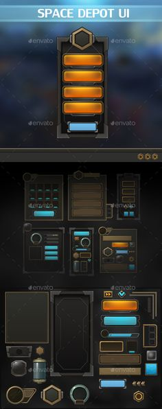 Space Depot UI is a complete art set of UI components, icons, buttons. All components are of a high quality and implemented in a p
